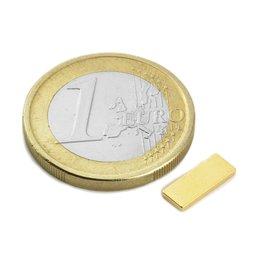 Parall�l�pip�de magn�tique 10x4x1,2mm, n�odyme, N50, dor�