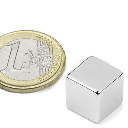 Cube magnet 12mm, neodymium, N48, nickel-plated