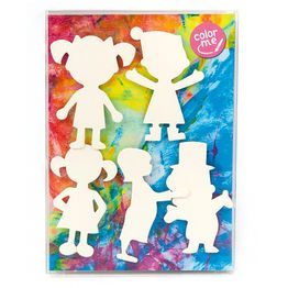 People colouring pictures magnetic colour-me fridge magnets, set of 5
