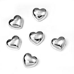 Sweetheart metalen magneten in hartjesvorm, set van 6