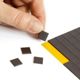 Takkis 10 x 10 mm self-adhesive magnetic squares, 160 pieces per sheet