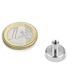 TCN-13 Pot magnet with screw socket Ø 13 mm, thread M3