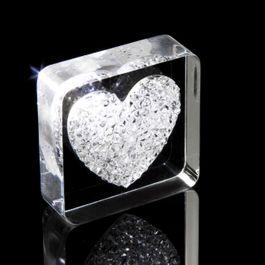 Diamond Heart imán de nevera «Corazón», con cristales Swarovski