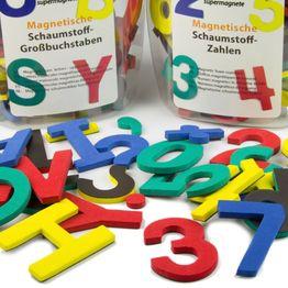Lettres ou chiffres magnétiques kit de caractères magnétiques, en mousse EVA, 4 couleurs assorties