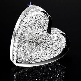 Glitzer-Herz starker Kühlschrankmagnet, mit Swarovski-Kristallen