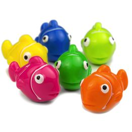 Clownfish magnets holds approx. 550 g, fish-shaped fridge magnets, set of 6