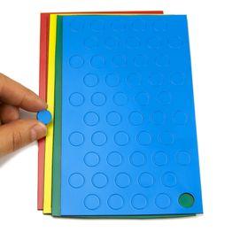 Symboles magnétiques rond petit pour tableaux blancs & tableaux de planning, 50 symboles par feuille, dans différentes couleurs