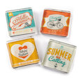 Fridge magnets with summer motives, set of 4