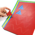 for whiteboards & planning boards, 25 symbols per A4 sheet, in different colours