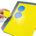 for whiteboards & planning boards, 12 symbols per A4 sheet, in different colours