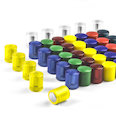 Neodymium magnets with plastic cap, Ø14mm, in different colours