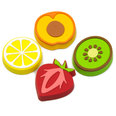 Fruit-shaped deco magnets, Set of 4