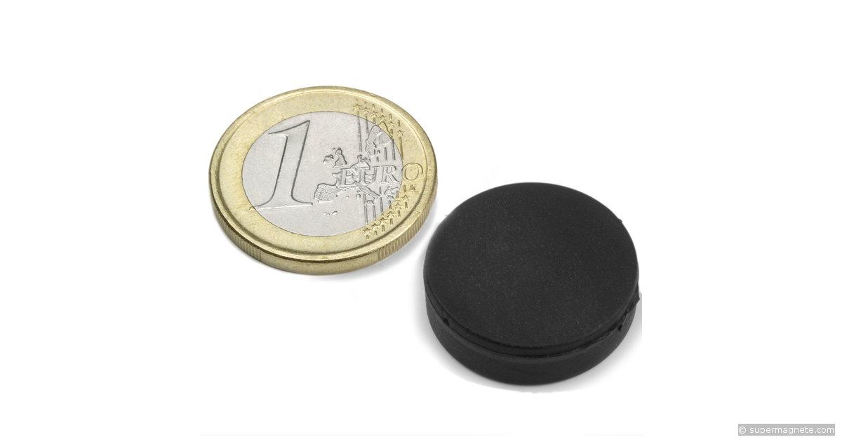 wasserdichter scheibenmagnet 20 x 5 mm gummiert supermagnete. Black Bedroom Furniture Sets. Home Design Ideas