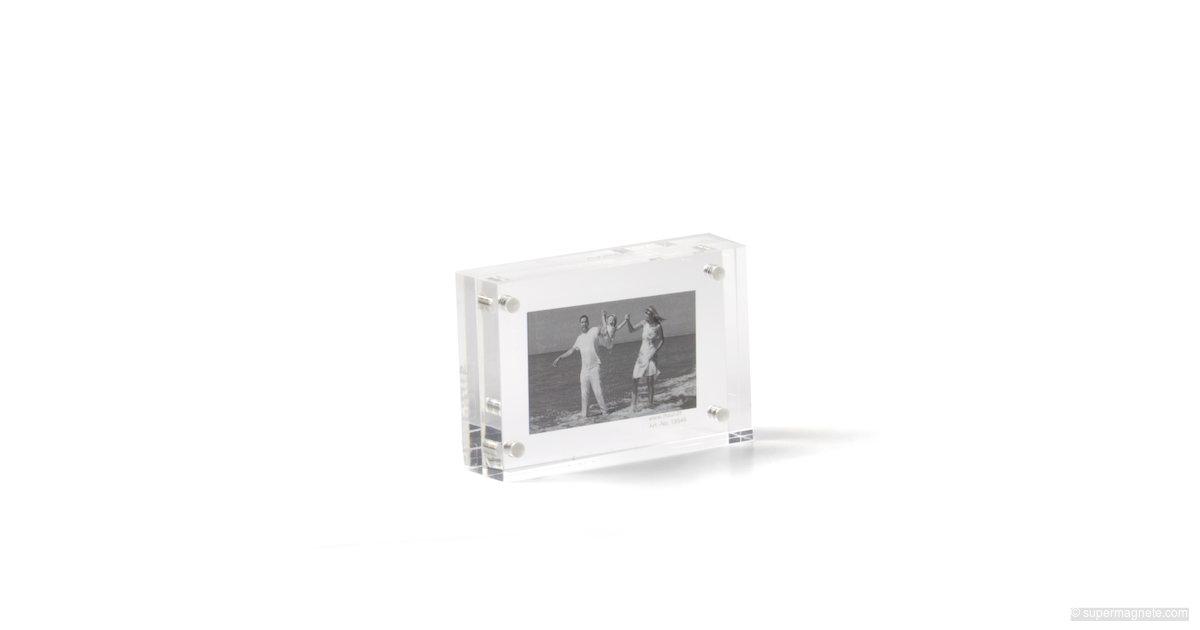 acryl bilderrahmen magnetisch mini 7 x 5 cm supermagnete. Black Bedroom Furniture Sets. Home Design Ideas
