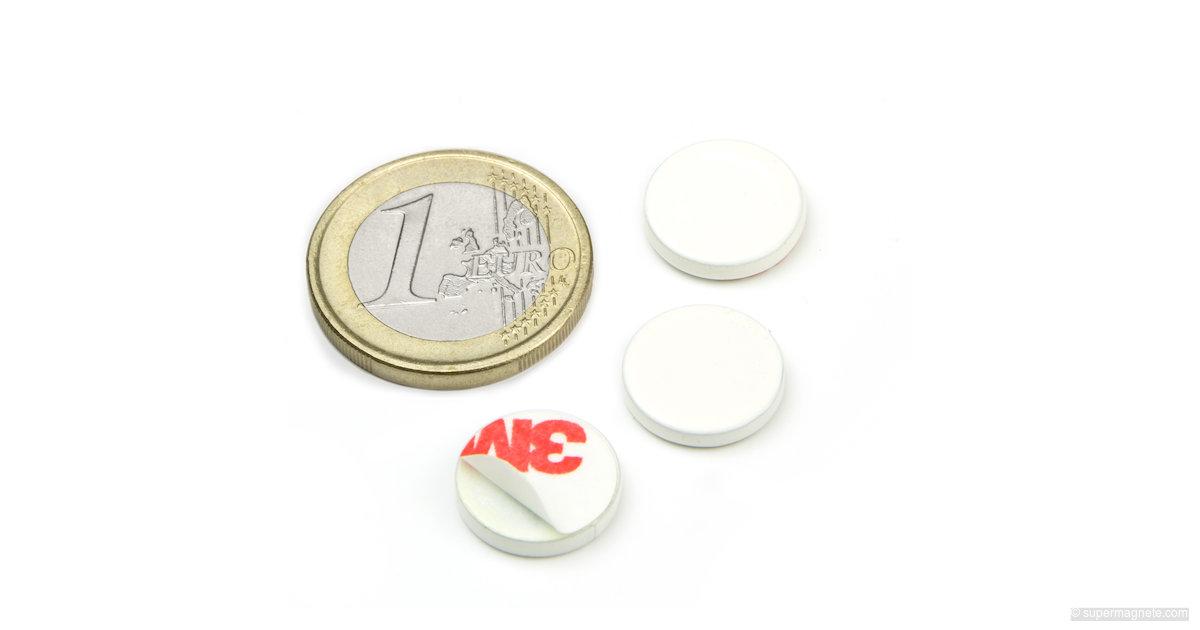 metallscheibe selbstklebend wei gegenst ck f r magnete d 13 mm supermagnete. Black Bedroom Furniture Sets. Home Design Ideas