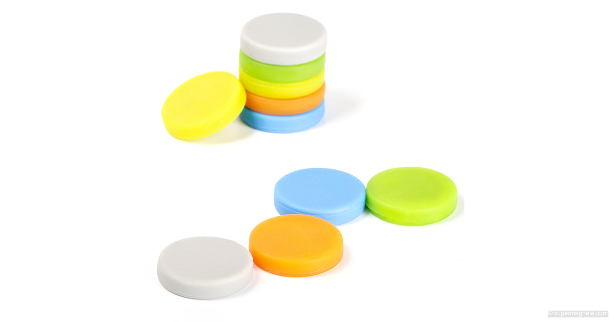 Silicone magnets, 10 per set (MAUL)