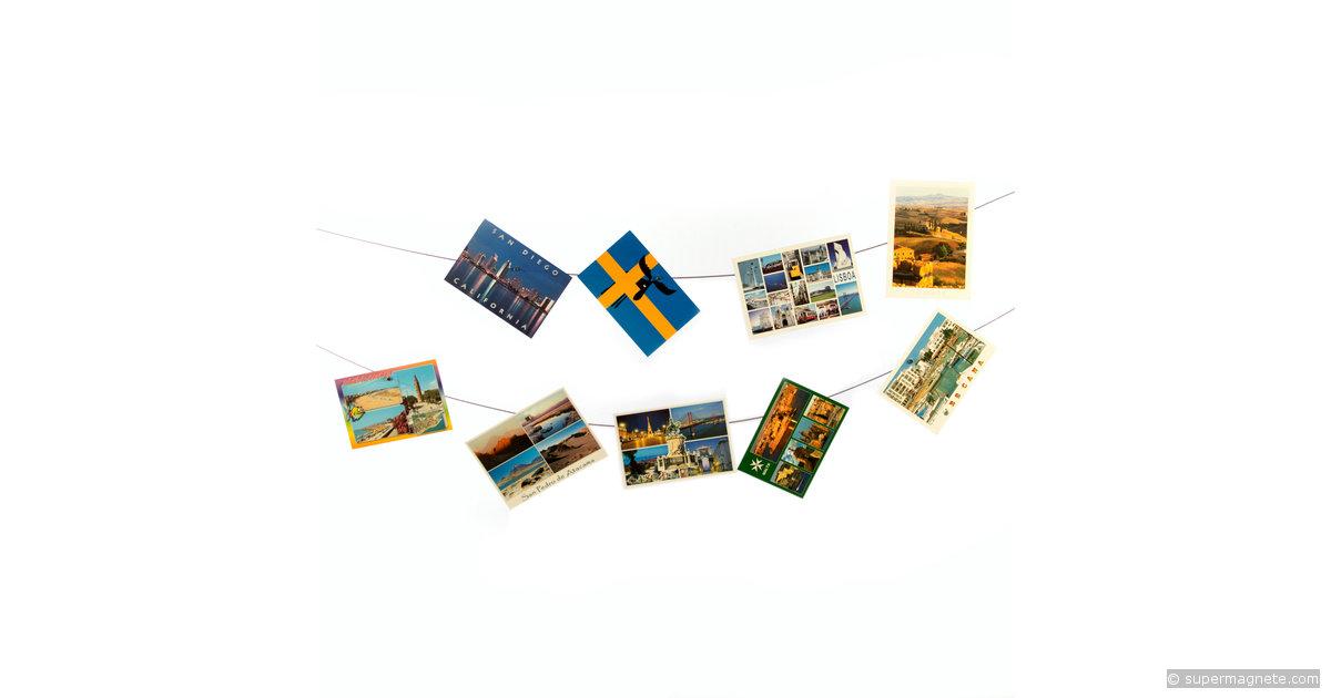 Fotoseile Fotoleinen waagerecht 3m - supermagnete
