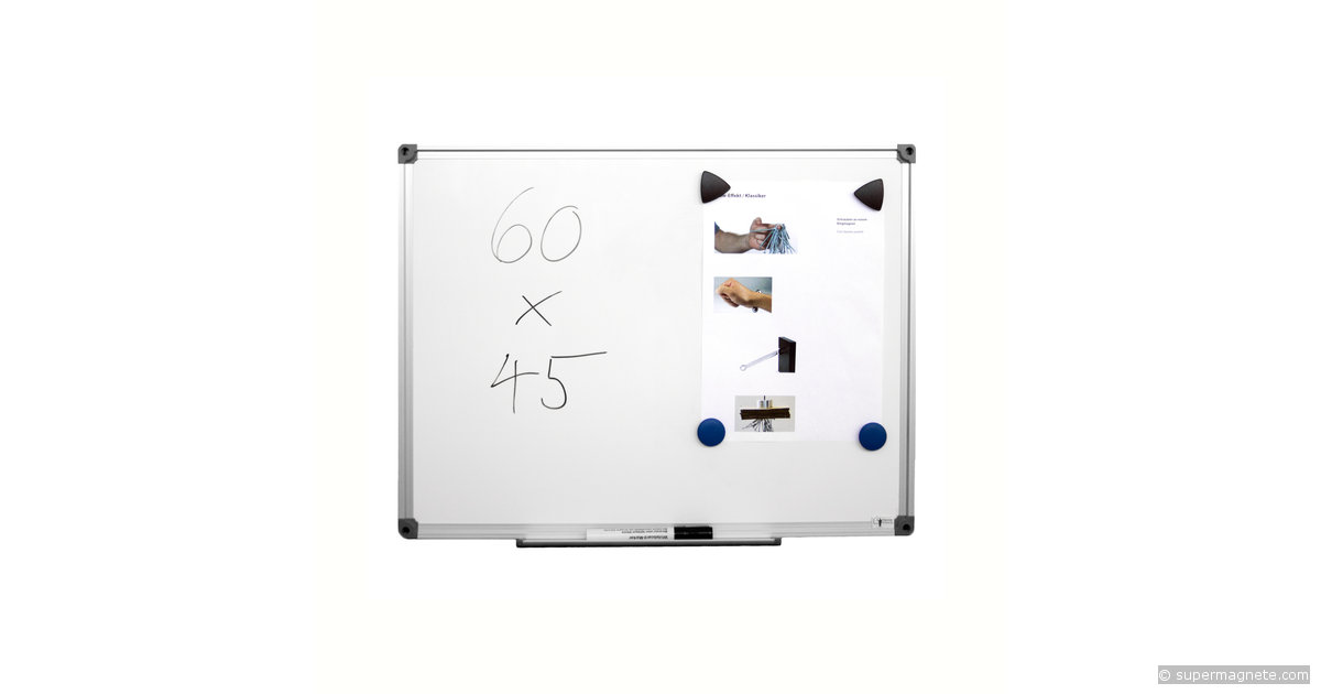 whiteboard magnetisch 60 x 45 cm supermagnete. Black Bedroom Furniture Sets. Home Design Ideas