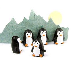 LIV-66, Penguins, strong fridge magnets, set of 6