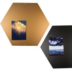 MB-12, Magnettafel wabenförmig, aus Stahlblech, 44 x 38 cm, in verschiedenen Farben