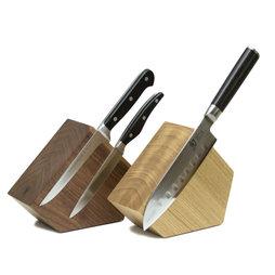M-KNIFEB-002, Portacuchillos magnético «Pentagon», de madera, para cuchillos de hasta 900 g