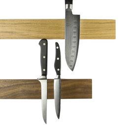 M-KNIFEP-001, Messenstrip magnetisch 45 cm, magneetstrip, van hout, voor messen tot 500 g