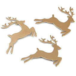LIV-72, Deer, strong fridge magnets, set of 3