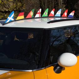 M-42, Banderines nacionales, bandera magnética para el coche