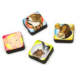 SALE-053/friends, Icons amici svizzeri, magneti decorativi quadrati, set da 4, in diversi design