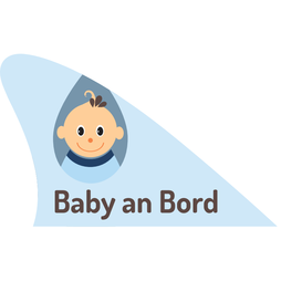 M-58/babyb, Fun fin, magnetic fun item for your car, 'Baby an Bord' blue