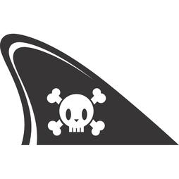 M-58/skull, Fun fin, magnetic fun item for your car, skull