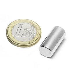 S-10-20-N, Cilindro magnetico Ø 10 mm, altezza 20 mm, neodimio, N45, nichelato