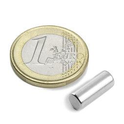 S-05-14-N, Cylindre magnétique Ø 5 mm, hauteur 13,96 mm, néodyme, N45, nickelé