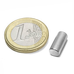 S-06-13-N, Rod magnet Ø 6 mm, height 13 mm, neodymium, N48, nickel-plated