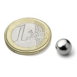 K-08-C, Sphere magnet Ø 8 mm, neodymium, N38, chrome-plated