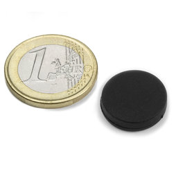 S-15-03-R, disc magnet rubberised Ø 16,8 mm, Height 4,4 mm, neodymium, N45