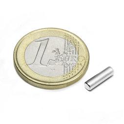 S-03-10-N, Rod magnet Ø 3 mm, height 10 mm, neodymium, N45, nickel-plated
