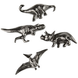 LIV-85, Dinosaure, aimants décoratifs pour réfrigérateur, lot de 4