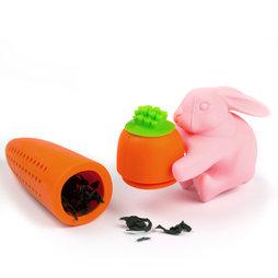 M-70, Boule à thé lapin&carotte, passe-thé en silicone, non magnétique!