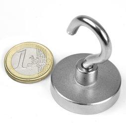 Ordentlich Topfmagnete Haltemagnete mit Haken D 32 mm (Neodym-Magnete  MV42