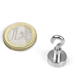 FTN-13, Hook magnet, Ø 13 mm, Thread M3, strength approx. 5 kg