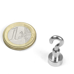 FTN-10, Hook magnet Ø 10 mm, thread M3, strength approx. 3 kg