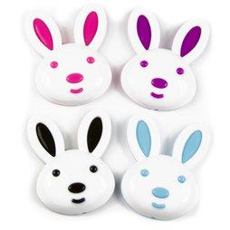 SALE-089, Bunny, koelkastmagneten in de vorm van een haasje, set van 4