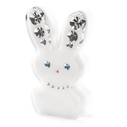 LIV-93, Diamond Rabbit, Kühlschrankmagnet Hase, mit Swarovski-Kristallen