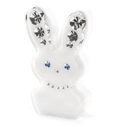 LIV-93, Diamond Rabbit, koelkastmagneet haas, met Swarovski-kristallen