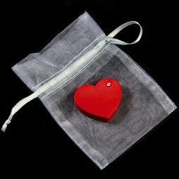 LIV-90, Red Heart, koelkastmagneet hart, met zirkonia