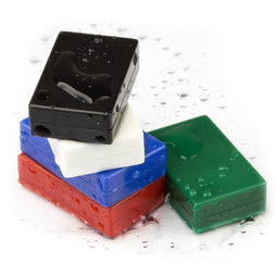 M-BLOCK-01, Block magnets with plastic cover, 5 per set, various colours