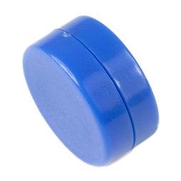 M-DISC-02/blue, Scheibenmagnete mit Kunststoffhülle Ø 13,4 mm, 5 Stück pro Set, blau