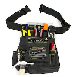 WS-MTP-01, Tool belt magnetic large, with 10 pockets & belt