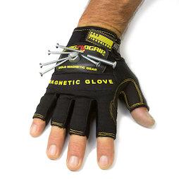 WS-FMG-L, Magnetische handschoen L, voor spijkers, schroeven, bits enz., maat L